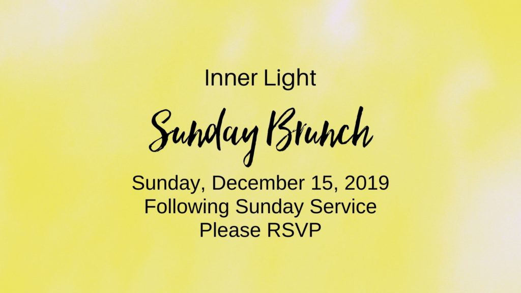 Sunday Brunch December 15, 2019