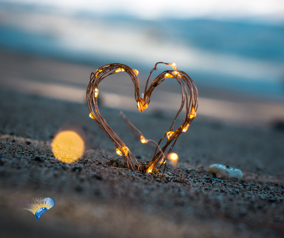 Heart in lights at the beach